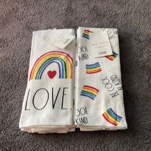 Rae Dunn Kitchen Towels Set Of Four Love Be Kind🌈